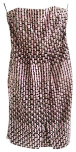 Banana Republic Print Strapless Mini Dress