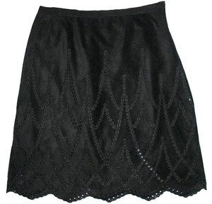 Karen Kane New Eyelet Made In Usa Size 12 Skirt Black