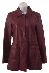 Kenneth Cole Reaction Leather Vintage Red/Brown Leather Jacket