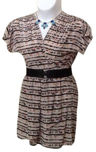 BCBGMAXAZRIA short dress Parfait Multi (corals, pinks, black, teals, browns, tans, camels) on Tradesy