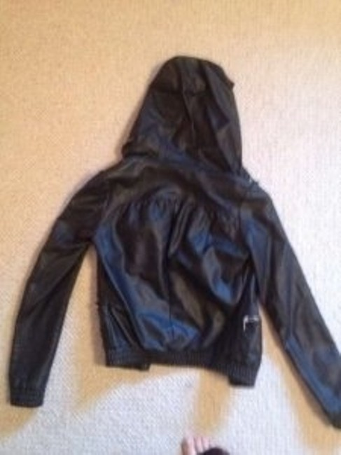 Topshop black Leather Jacket