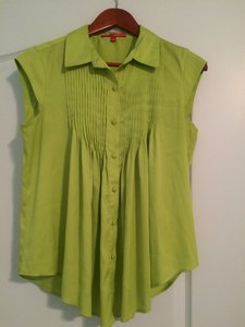 Catherine Malandrino Top Yellow/green