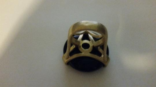 Danielle Stevens Gold Plated Black Agate Ring Style #: RMAR001
