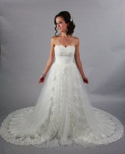 Handmade Gorgeous Princess White Lace Wedding Dress Sweetheart Backless Sweep/brush Train Wedding Gown Wedding Dress