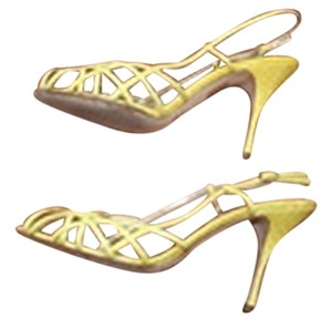 Dolce&Gabbana Snakeskin Yellow Sandals