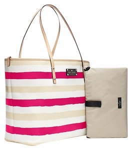 Kate Spade Pink Sand White Diaper Bag