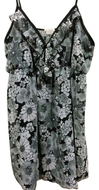 Item - Black and Grey Floral Tank Top/Cami Size 12 (L)