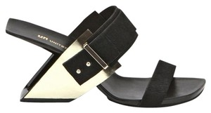 United Nude Haircalf Metal black gold Sandals