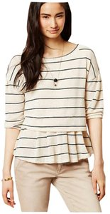 Anthropologie Tiered Knit Striped Sweater