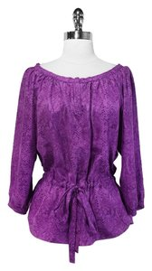 Rebecca Taylor Silk Top Purple