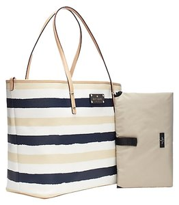 Kate Spade Navy Sand White Diaper Bag