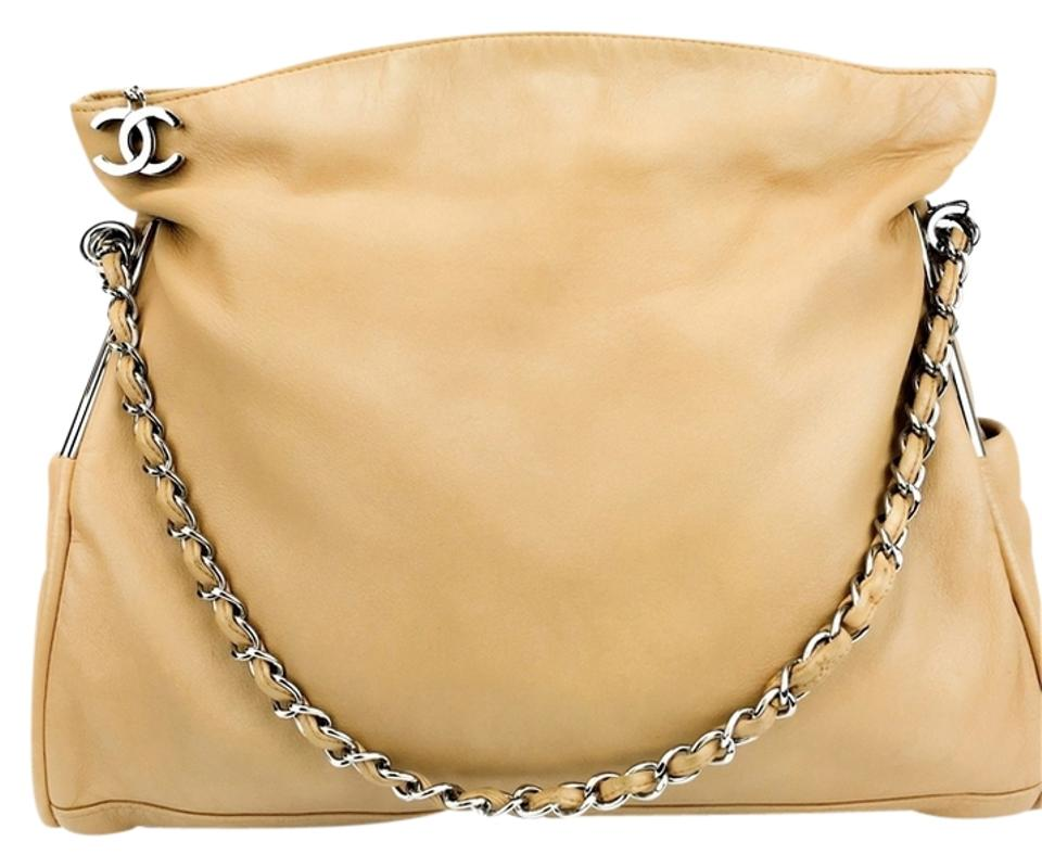 8002b31e4c2f42 Chanel Large Ultimate Soft Beige Lambskin Leather Tote - Tradesy