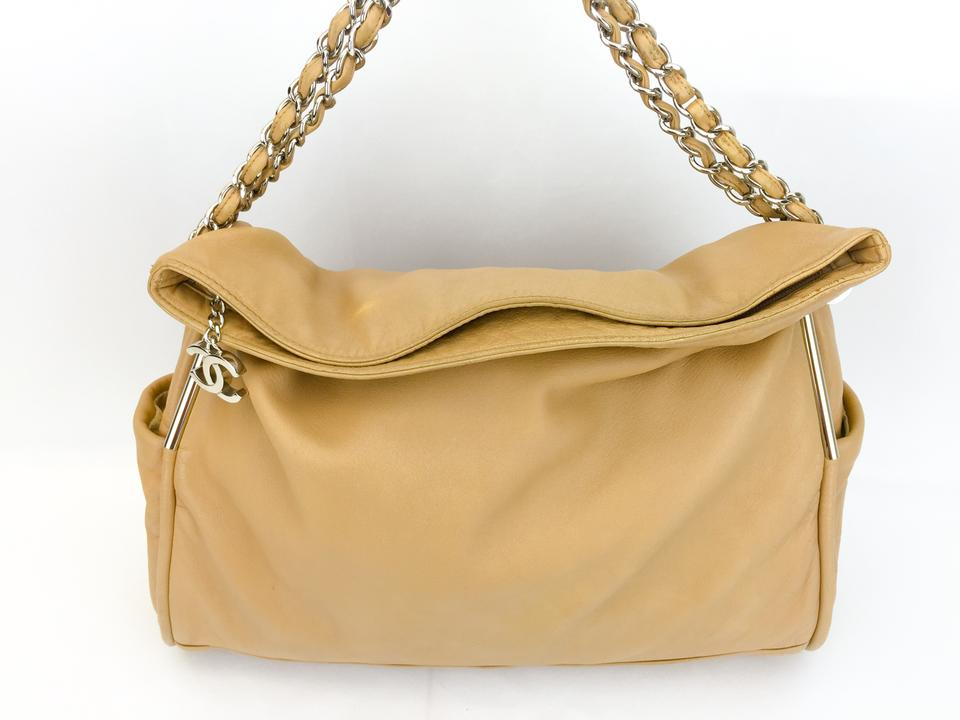 7a48f7606cf59d Chanel Lambskin Large Soft Excellent Condition Tote in Beige Image 10.  1234567891011