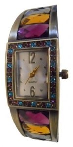 Avon Avon jeweltone crystal cuff watch
