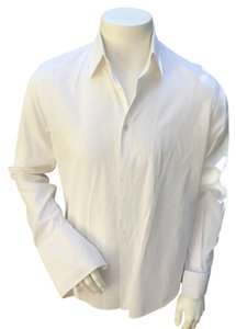 Hugo Boss Mens Dress Shirt Suit Button-up Button Down Shirt white