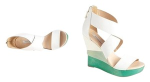 Diane von Furstenberg Leather White Wedges