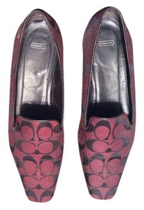 Coach Burgundy and black Flats