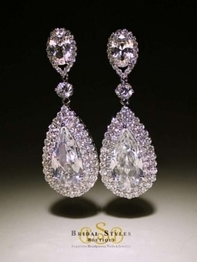 Preload https://item4.tradesy.com/images/bridal-styles-boutique-cubic-zirconia-tear-drop-earrings-138213-0-0.jpg?width=440&height=440