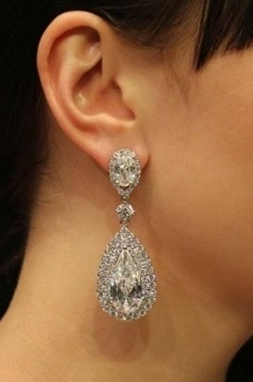 Bridal Styles Boutique Cubic Zirconia Tear Drop Earrings