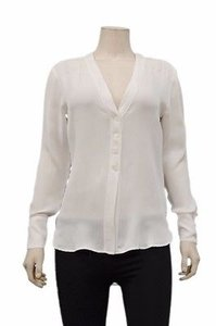 Brochu Walker Iris V Hem Silk Top White