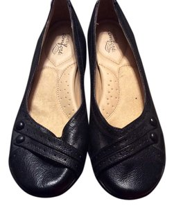 Strictly Comfort Black Flats