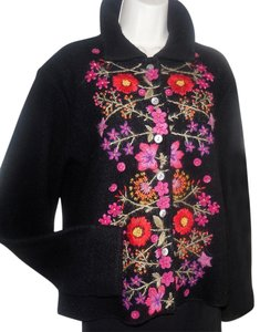 Other Smart Casual Suiting Boxy Floral Black Jacket