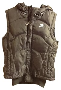 Predator Puffy Faux Fur Collar Bear Emblem Winter Vest