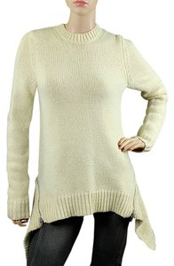 Alexander Wang Oversized Zipper Knit Heavy Knit Peplum Ribbed Sweater