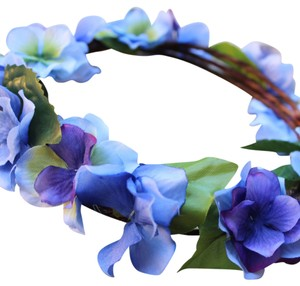 Custom Made - Blue Purple Floral Crown - Hydrangea flower crown - Bridal Flower Crown - Blue Purple wedding