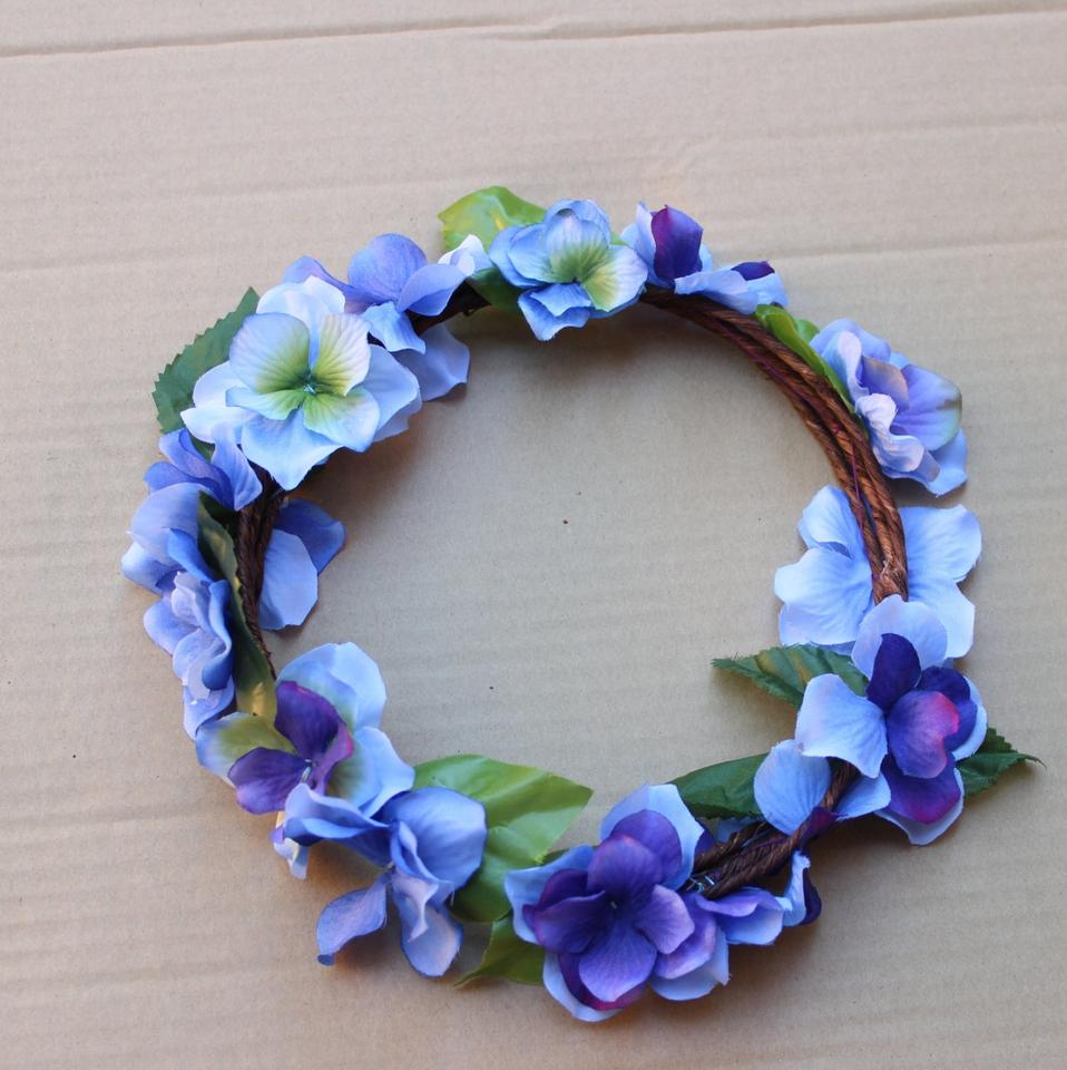Blue custom made purple floral crown hydrangea flower crown blue custom made purple floral crown hydrangea flower crown bridal flower crown purple wedding hair accessory tradesy izmirmasajfo