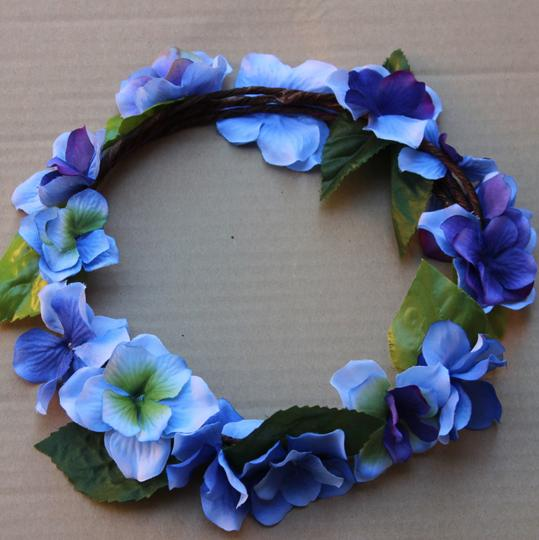 Other Custom Made - Blue Purple Floral Crown - Hydrangea flower crown - Bridal Flower Crown - Blue Purple wedding