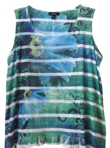 Style & Co Top Blue, Green