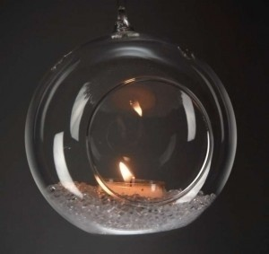 Clear Crystal Glass Tea Ligh Hanging Bubbles Holders Set Of 6 8x8 Circumference Hanging Bubbles Tea Light Holders Votive/Candle