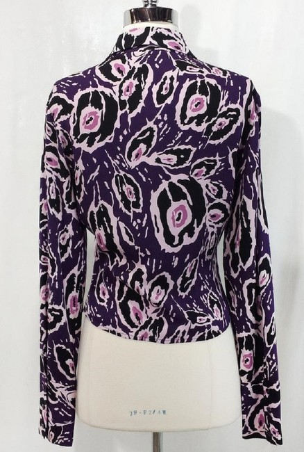 Diane von Furstenberg Silk Top Purple/Pink