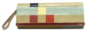 Fendi Colorblock Rush Pochette Brand New multicolor Clutch