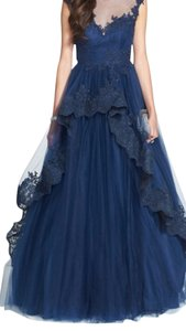 Dark blue Maxi Dress by Mac Duggal Couture
