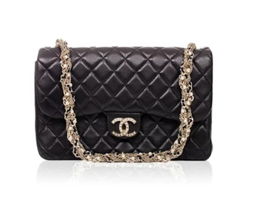 4b06d4111080ee Chanel Classic Flap Limited Edition Westminster Pearl Black Lambskin  Leather Clutch - Tradesy