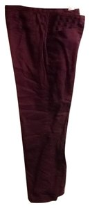 Gloria Vanderbilt Petite Comfortable Casual Straight Pants Plum