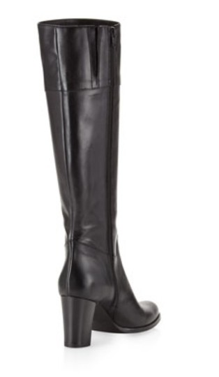 Sesto Meucci Italian Leather Leather Knee High Almond Toe Sharon Neiman Marcus Black Boots