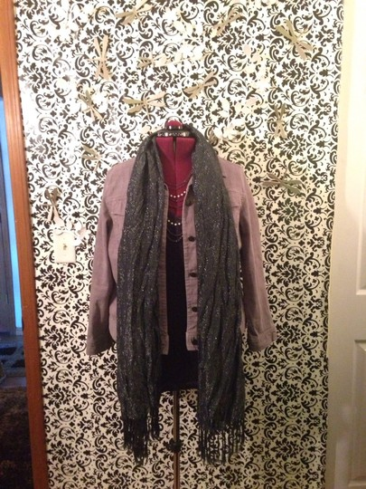 Other Black & Silver Semi-Sheer Scarf