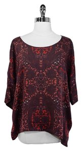 Club Monaco Silk Top Red