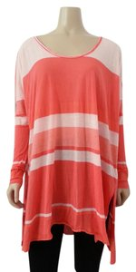 Free People Boho Bohemian Casual Oversized Striped Flow Tunic