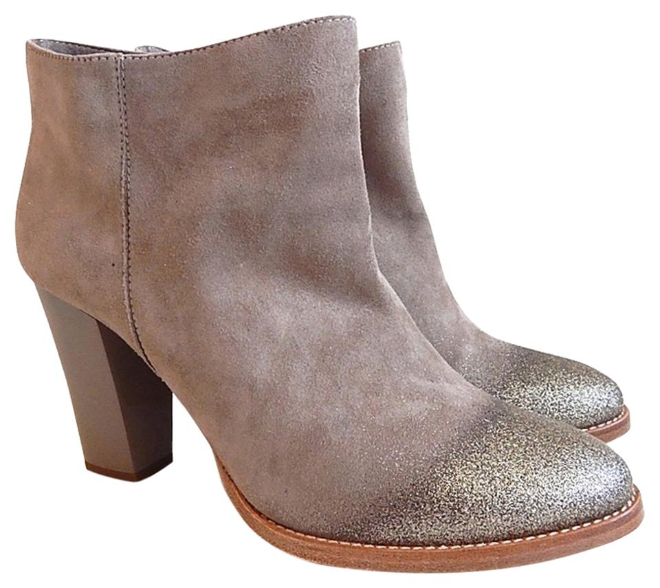 Jimmy Choo Beige Taupe New Marley Degrade-glitter Degrade-glitter Degrade-glitter Suede Ankle Boots/Booties 02dea5