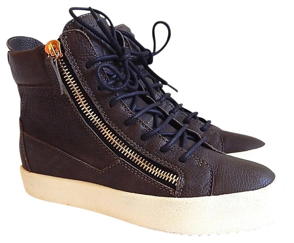 cheap for sale outlet for sale new list Giuseppe Zanotti Gray Green New May London Donna Leather Hi-top Trainers -  Sneakers Size EU 38 (Approx. US 8) Regular (M, B) 50% off retail
