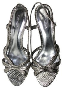 Calvin Klein Chic Metallic Silver Sandals