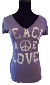 American Eagle Outfitters Lavender Graphic Peace T Shirt Purple