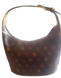 Dooney & Bourke Satchel in Brown with multi color D B