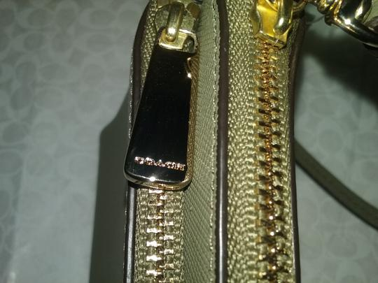 Coach Double Zip Phone Wristlet In Saffiano Leather