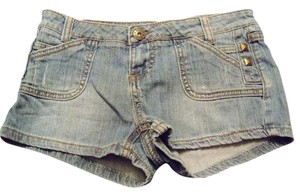 Mudd Denim Pockets Mini/Short Shorts Blue