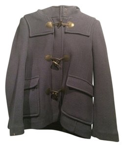 Burberry 100% Wool Toggle Buttons Pea Coat